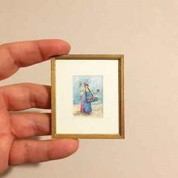 Живопись. Девушка цветочница. Акварель.