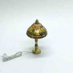 Лампа настольная, Tiffany, масштаб 1:12