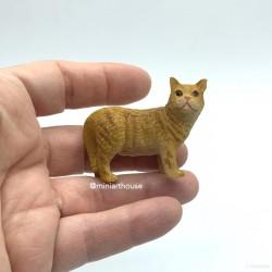 Кот рыжий, кукольная миниатюра 1:12