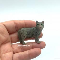Котик серый, миниатюра 1:12