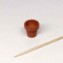 Горшок терракотовый для цветов, кукольная миниатюра 1:12
