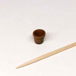 Горшочек маленький для цветов, миниатюра 1:24 (300819-7s)