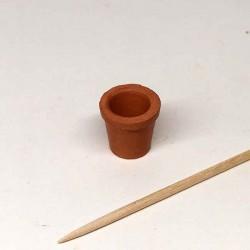 Горшок глиняный для цветов, кукольная миниатюра 1:12