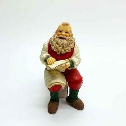 Санта сидящий, кукольная миниатюра 1:12