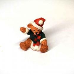 Мишка Санта, Santa Bear,  миниатюра 1:12