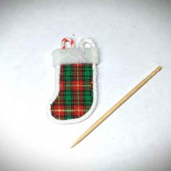 Носок Рождественский,  кукольная миниатюра 1:12