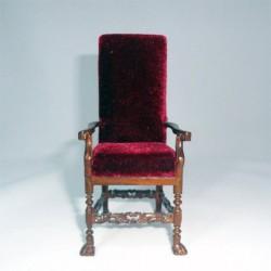 Кресло высокое. Неоготика, кукольная миниатюра