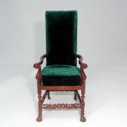 Кресло высокое. Неоготика, масштаб 1:12