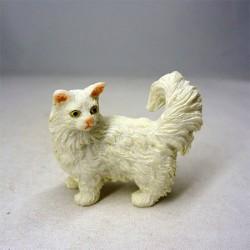Котик белый, миниатюра 1:12
