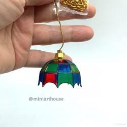 Лампа потолочная Tiffany, миниатюра, масштаб 1:12