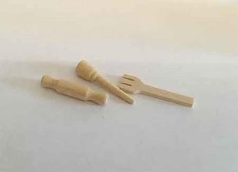 Кухонный набор деревянный, масштаб 1:12