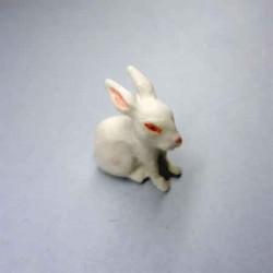 Кролик белый, миниатюра 1:12