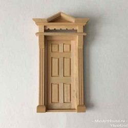 Викторианская дверь, шестипанельная, масштаб 1:12