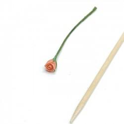 Роза коралловая,кукольная миниатюра 1:12