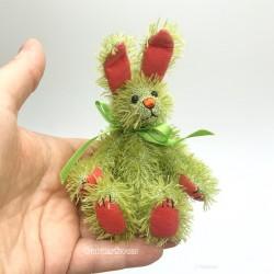 Threadhare Plush Rabbit, Коллекционный кролик, ручная работа