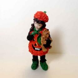 Кукла Девочка в костюме тыквы, миниатюра