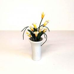 Каллы в белой вазе, миниатюра 1:12