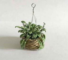 Растение в подвесной корзине, миниатюра 1:12