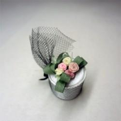 Дамская шляпка с вуалью, миниатюра 1:12
