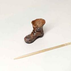"""Горшок для цветов""""Старый ботинок"""", кукольная миниатюра 1:12"""
