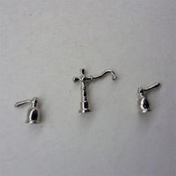 Комплект кранов для раковины, миниатюра 1:12