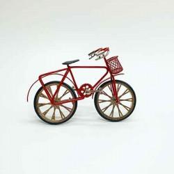 Велосипед с корзиной, кукольная миниатюра 1:12