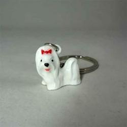 Брелок собачка белая
