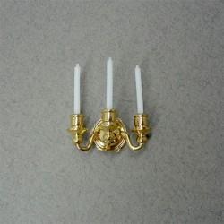 Подсвечник настенный на три свечи, масштаб 1:12
