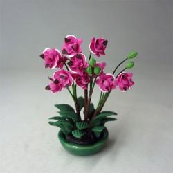 Орхидеи в низкой вазе, миниатюра 1:12