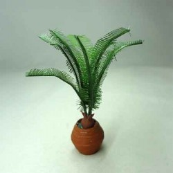 Пальма в горшке, кукольная миниатюра 1:12