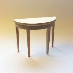 Консольный столик, неокрашенный, масштаб 1:12