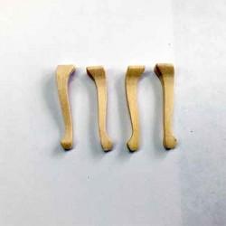 Ножки для стула. 4 шт, миниатюра 1:12