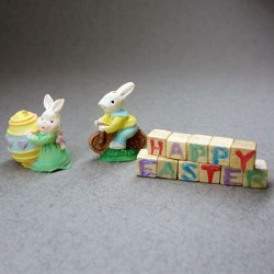 Игрушка Кролики, кукольная миниатюра
