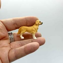 Собачка Золотой Ретривер, кукольная миниатюра 1:24
