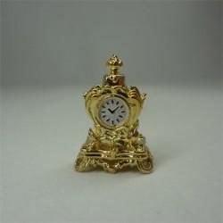 Часы каминные золотые, миниатюра 1:12