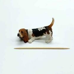 Собака Бассет хаунд, миниатюра 1:12