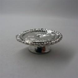Блюдо серебряное для десерта, масштаб 1:12