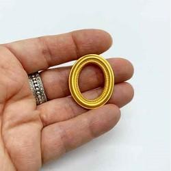 Рамочка овальная, маленькая золотая, масштаб 1:12