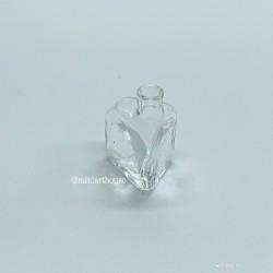 Бутылка треугольная, стекло, миниатюра, масштаб 1:12