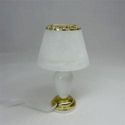 Лампа настольная, кукольная миниатюра 1:12