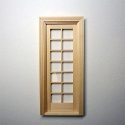 Дверь французская для кукольного домика, масштаб 1:12
