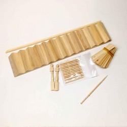 Лестница деревянная, комплект, масштаб 1:24