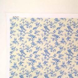 Ткань Голубые птицы, миниатюра 1:12