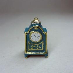 Часы настольные синие, миниатюра 1:12