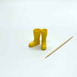 Резиновые сапоги, желтые, масштаб 1:12