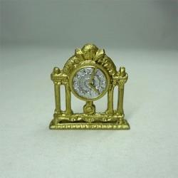 Часы настольные золотые, кукольная миниатюра