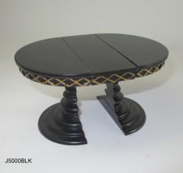 Стол круглый раздвижной черный, масштаб 1:12