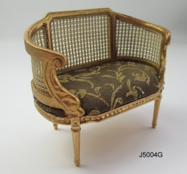 Канапе LOUIS X1V SMALL SETTEE - GOLD, масштаб 1:12