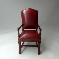 Кресло кожаное, масштаб 1:12