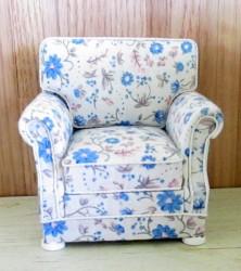 Кресло мягкое Arm Chair-white миниатюра 1:12